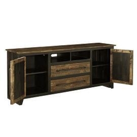 68 Inch Console - Honey \u0026 Black Finish