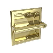 Uncoated Polished Brass - Living Recessed Toilet Tissue Holder