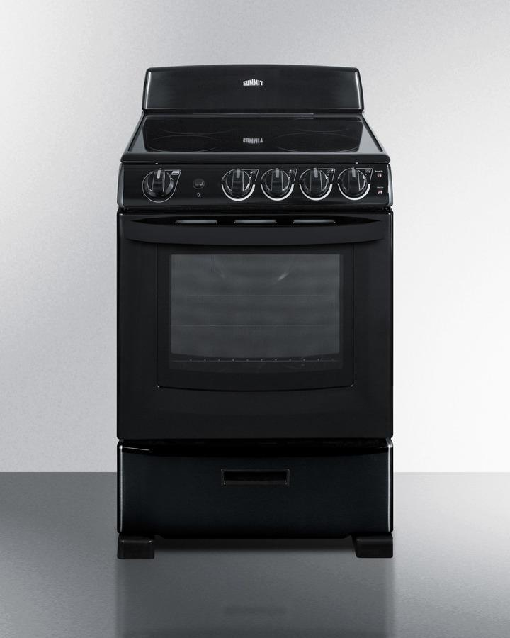 "24"" Wide Smooth-top Electric Range In Black, With Lower Storage Drawer and Oven Window; Available Winter 2018 To Replace Model Rex243b Photo #1"