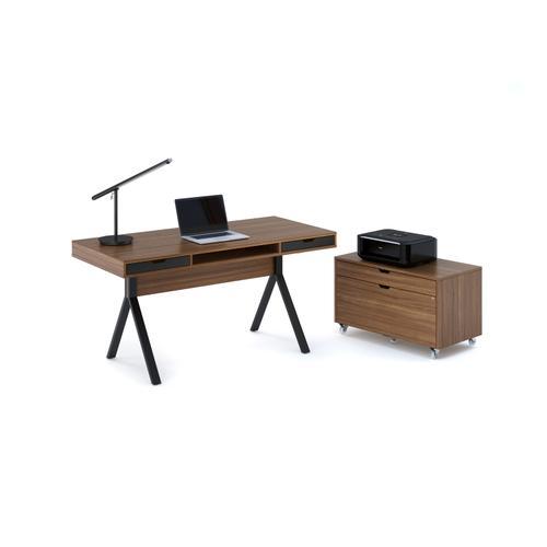 BDI Furniture - Modica 6347 Mobile File Pedestal in Natural Walnut