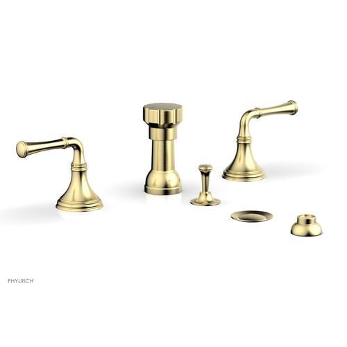 3RING Four Hole Bidet Set D4205 - Polished Brass Uncoated