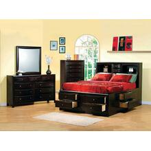 View Product - Phoenix Cappuccino California King Four-piece Bedroom Set
