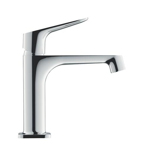 Polished Black Chrome Single lever basin mixer 100 with pop-up waste set