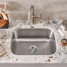 See Details - Portsmouth Undermount 23x18 Single Bowl Kitchen Sink  American Standard - Stainless Steel