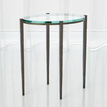 See Details - Petite Oval Accent Table-Natural Iron