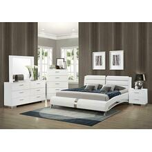 View Product - Felicity Contemporary White Upholstered California Bed