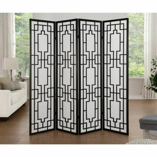 ACME Cecilia 4-Panel Screen Room Divider - 98290 - Black