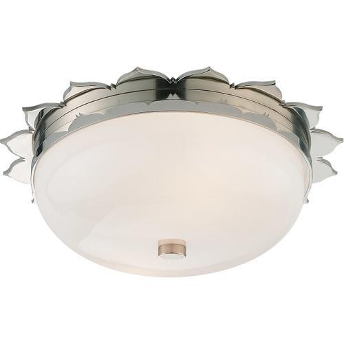 Alexa Hampton Rachel 2 Light 14 inch Polished Nickel Flush Mount Ceiling Light
