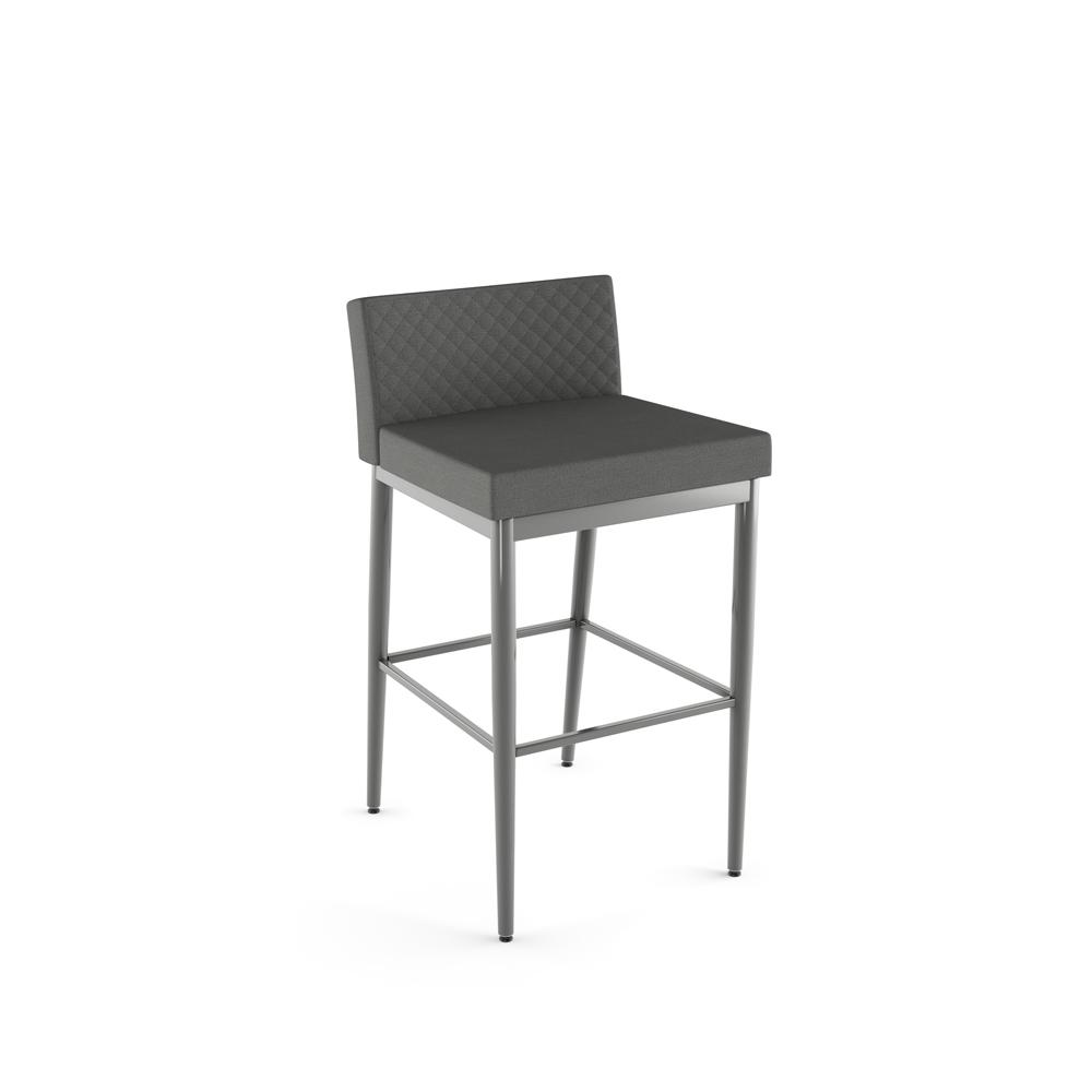 Amisco - Hanson Plus Non Swivel Stool With Quilted Fabric