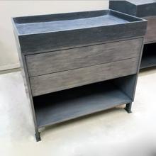 """36"""" Elemental Prototype Wood Vanity Wood Stand With Steel Feet U0026 Ventus Bath Sink / Seconds"""