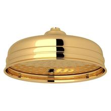 "English Gold Perrin & Rowe 8"" Rain Showerhead"
