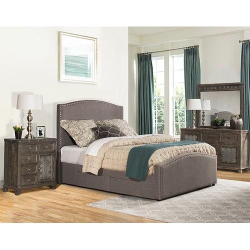 Kerstein King Storage Bed Set - Orly Gray