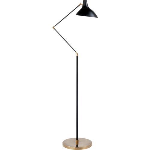 AERIN Charlton 51 inch 60 watt Black and Brass Floor Lamp Portable Light