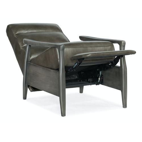 Living Room Marlin Pushback Recliner with Exposed Wood Arm