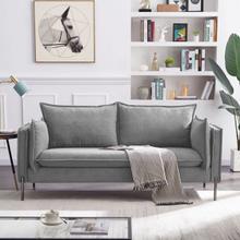 See Details - Divani Casa Randolf - Modern Grey Loveseat