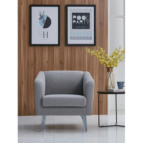 VIG Furniture - Divani Casa Preston Contemporary Grey Fabric Lounge Chair