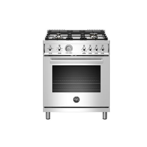 "Bertazzoni - 30"" Professional Series range - Gas oven - 4 brass burners - LP version"
