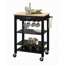 ACME Ottawa Kitchen Cart - 98325 - Natural & Black