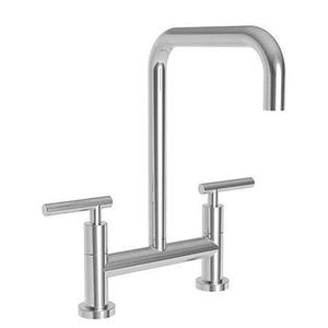 Gloss Black Kitchen Bridge Faucet
