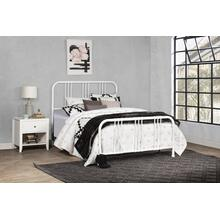 Dakota Queen Bed With Frame, Soft White