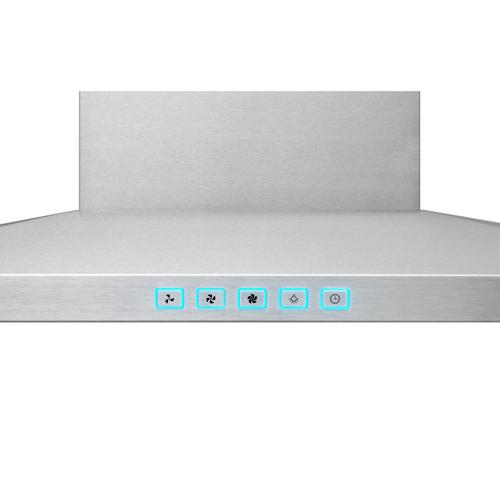 Broan® 30-Inch Convertible Wall-Mount Low Profile Pyramidal Chimney Range Hood, 450 MAX CFM, Stainless Steel