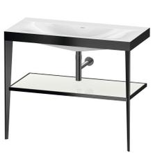 View Product - Furniture Washbasin C-bonded With Metal Console Floorstanding, White High Gloss (lacquer)