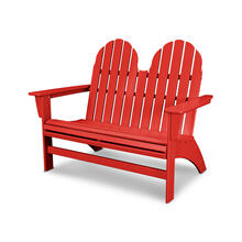 Sunset Red Vineyard Adirondack Bench