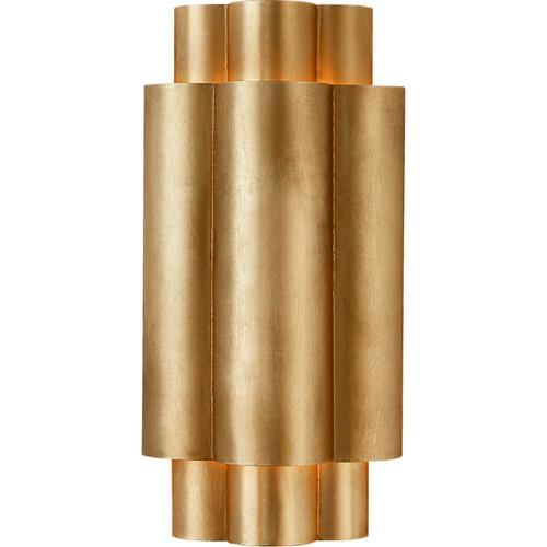 AERIN Arabelle 2 Light 6 inch Gild Sconce Wall Light, Small