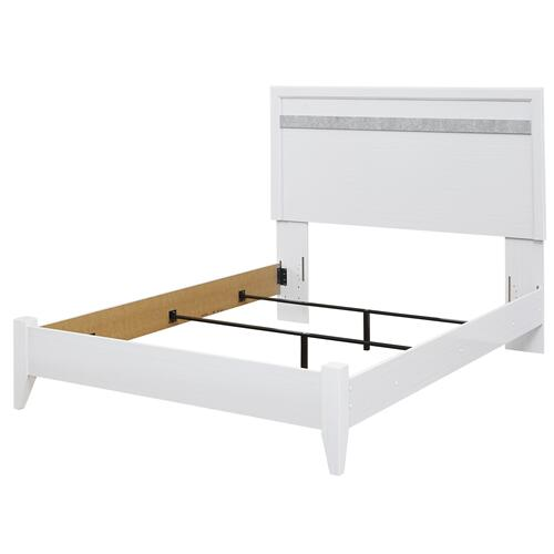 Jallory - White 2 Piece Bed (Queen)