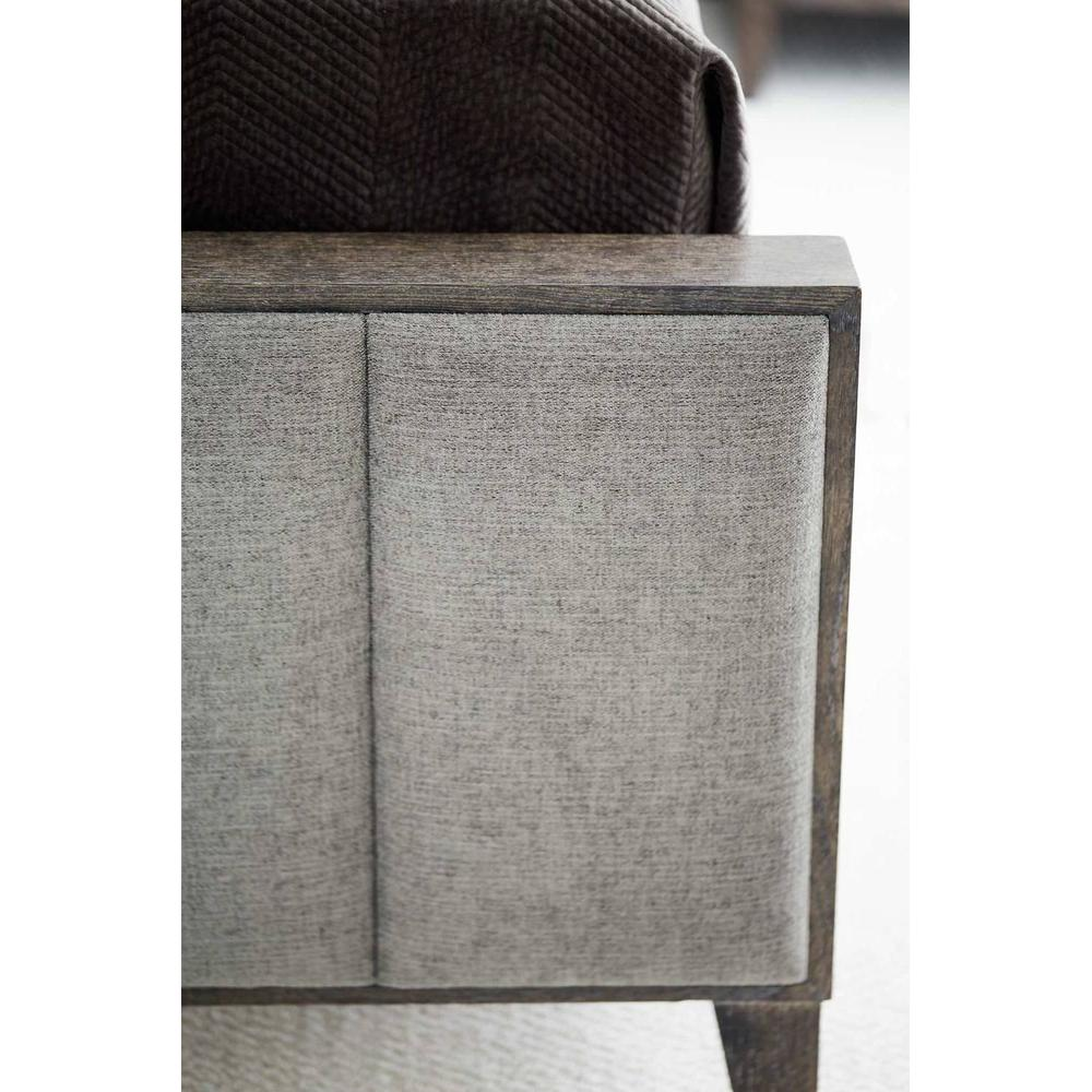 Queen Linea Upholstered Panel Bed in Cerused Charcoal (384)