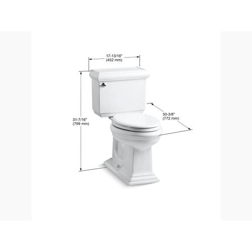Kohler - Ice Grey Two-piece Elongated 1.6 Gpf Chair Height Toilet