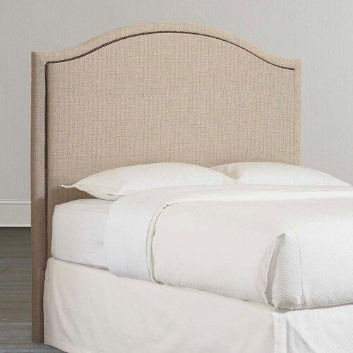 Custom Uph Beds Barcelona King Bonnet Bed, Footboard High, Insert Type Tufted