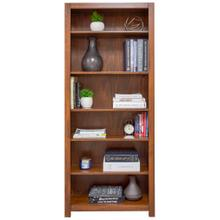 Erica Square Cut Profile Bookcase 2472 with 5 shelves