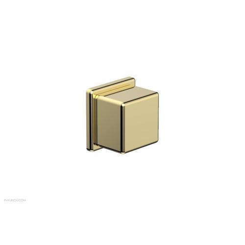 MIX Volume Control/Diverter Trim - Cube Handle 290-38 - Polished Brass