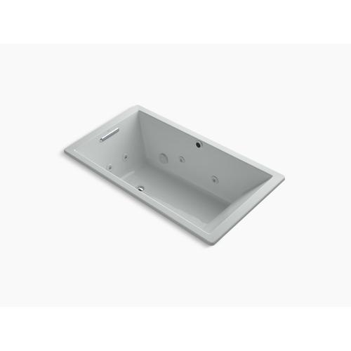 "Ice Grey 66"" X 36"" Heated Whirlpool Bath With Reversible Drain"