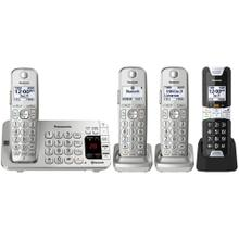 Link2Cell Bluetooth® Cordless Phone with Rugged Phone - 4 Handsets - KX-TGE484S2