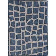 "Provo 5763 Blue/grey Bedrock 5'3"" X 7'7"""