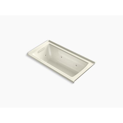 """Biscuit 60"""" X 30"""" Three-side Integral Flange Whirlpool With Heater and Left-hand Drain"""