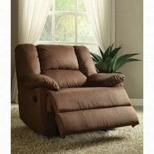 ACME Oliver Oversized Glider Recliner - 59410 - Dark Brown Nubuck