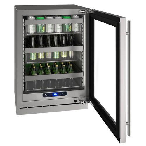 "Hre524 24"" Refrigerator With Stainless Frame Finish (115 V/60 Hz Volts /60 Hz Hz)"
