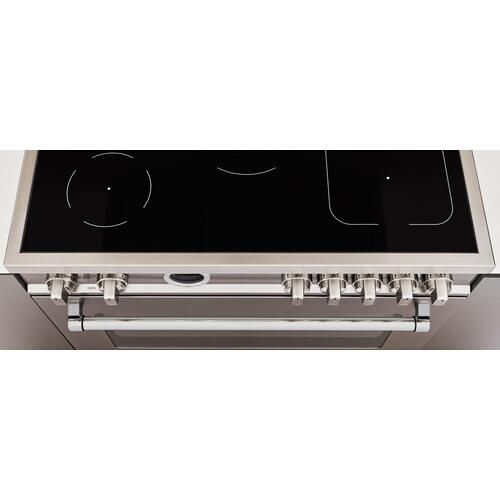 36 inch Induction Range, 5 Heating Zones, Electric Oven Nero Matt
