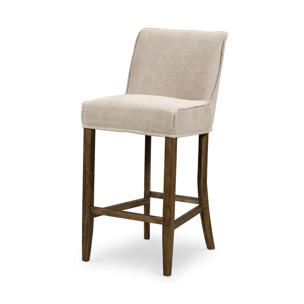 See Details - Bar Stool Size Heather Twill Stone Cover Aria Bar + Counter Stool