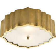 Alexa Hampton Balthazar 3 Light 14 inch Natural Brass Flush Mount Ceiling Light