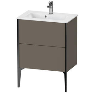 Duravit - Vanity Unit Floorstanding Compact, Flannel Gray Satin Matte (lacquer)