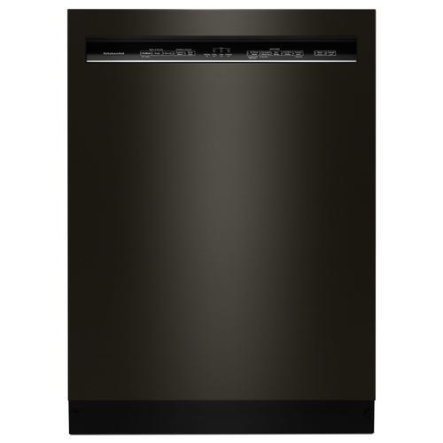 KitchenAid - 46 DBA Dishwasher with ProWash™ Cycle and PrintShield™ Finish, Front Control Black Stainless Steel with PrintShield™ Finish