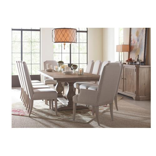 Legacy Classic Furniture - Monteverdi by Rachael Ray Complete Rect. Trestle Table