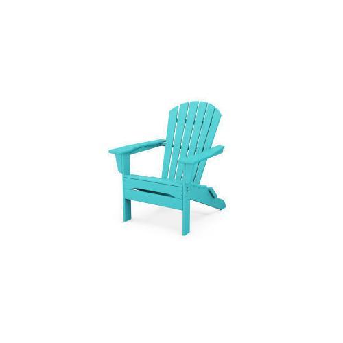 Polywood Furnishings - South Beach Folding Adirondack Chair in Aruba