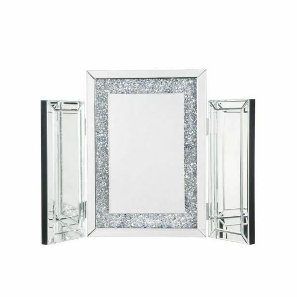 ACME Noralie Accent Decor - 97731 - Glam - Mirror, Glass, MDF, Faux Diamonds (Acrylic) - Mirrored and Faux Diamonds