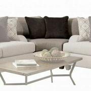 ACME Cantia Wedge - 55802 - 2-Tone Gray Fabric Product Image