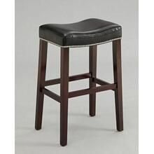"ACME Lewis Counter Height Stool (Set-2) - 96293 - Black PU & Espresso - 26"" Seat Height"